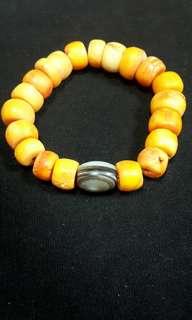 🚚 天然山珊瑚手環#005