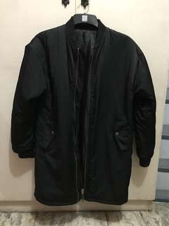 Long bomber jacket