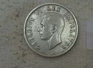 South Africa KGVi 2shilling silver Coin