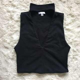 Black Kookai Choker Crop Size 1