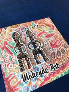 1992 坦桑尼亞 馬孔德雕塑藝術 郵票小型張