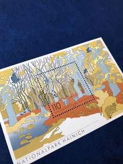 只此一張 2000 德國 海西尼國家公園 秋天森林 小型張郵票
