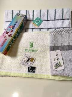 🚚 全新 盥洗用品 毛巾*3+牙膏*1