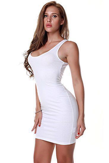 10 Sale Forever 21 White Tank Midi Dress Women S Fashion