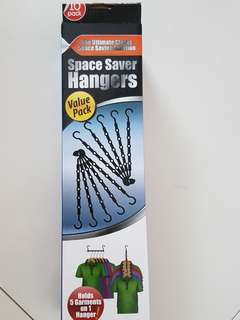 Space saving hanger