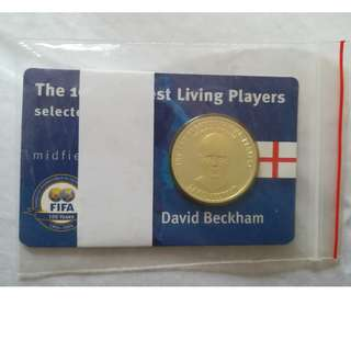 Fifa 100 Greatest Living Players - David Beckham silver proof commemorative coin