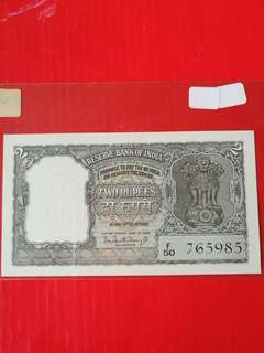 Reserve bank of India 2 rupee ND(1962/1967)  pick31