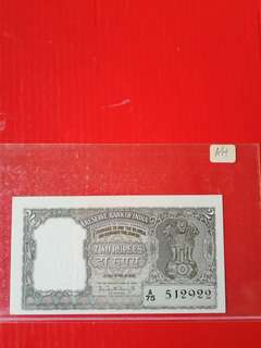 Reserve bank of India 2rupees ND(1962/1967) pick 31