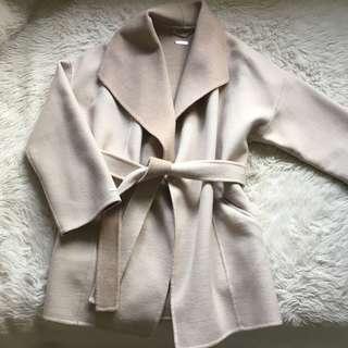 Massimo Dutti Luxury Handmade Wool Winter Coat Size S