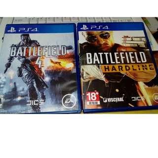 BattleField 4 and BattleField Hardline untuk dijual