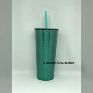 Starbucks Teal Stainless Steel Cold Cup Tumbler