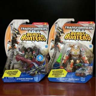 Transformers Beast Hunters - Starscream & Autobot Ratchet (MOSC) (each $13 or both for $24)