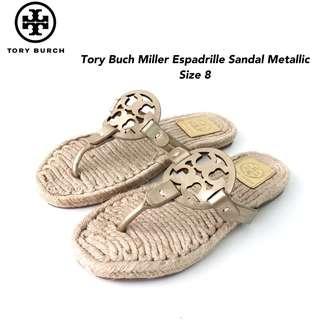 Tory Burch Miller Espadrille Sandal size 8