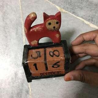 Cat manual calendar