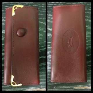 💯Real Cartier Leather Key Case 正貨卡地亞真皮鑰匙包