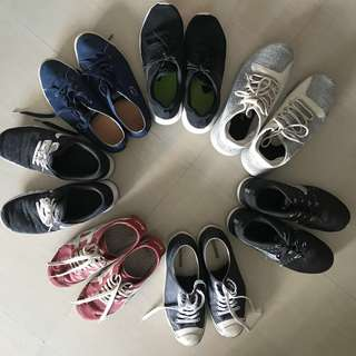 NIKE ADIDAS LACOSTE CONVERSE CHEAP USED shoes for sale
