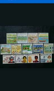 Singapore 1994 8th Definitive Tourism Complete Set - 13v Used Stamps