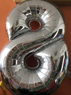 """40"""" Foil Balloon no 8 - non helium inflated"""