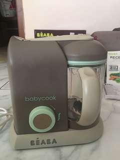Beaba Solo - Pastel Blue + Travel Bag + Pasta/Rice Cooker