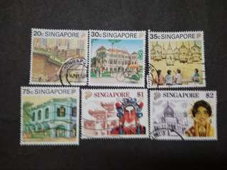 Singapore 1994 8th Definitive Tourism Loose Set Up To $2 - 6v Used Stamps