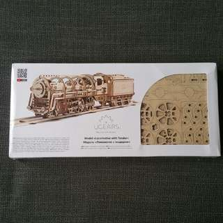 Ugears model locomotive train