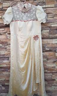Ninang's / Godmother's Gown Beige