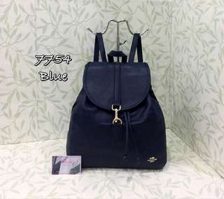 Coach Backpack Dark Blue Color