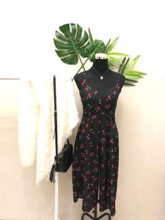 Cherry jumpsuit black