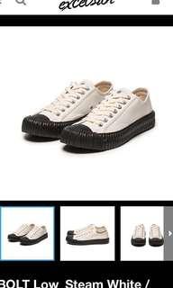 excelsior 餅乾鞋 黑底白鞋款 24