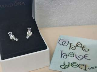 Brand New and Authentic Pandora Multi-Colour Arches Earrings