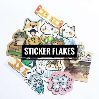 🚚 Sticker flakes