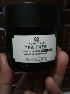 The body shop tea trre sleeping mask