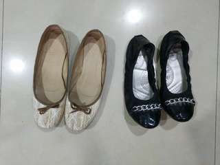pre-loved ballet flats (2pairs)