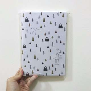 BNIP A5 Mountains And Trees Forest Motif Lined Line Notebook Journal Diary Planner