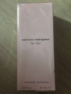 Narciso Rodriguez for her deodorant