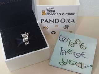 Brand New and Authentic Pandora Pudsey Bear Charm