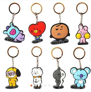 BTS Rubber Keychain (Unofficial)