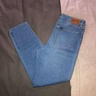 Blue denim lee rider jeans