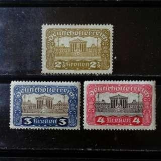 [lapyip1230] 奧地利共和國 1920年 國會大樓 高面額 新票 Mint