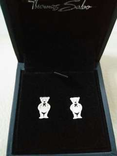 Brand New and Authentic Thomas Sabo Silver Teddy Bear Earrings