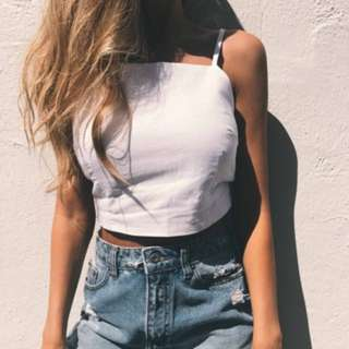 (849)Women Summer Beach Holiday Camisole Crop Tops Sexy Strappy Backless Tank Vest