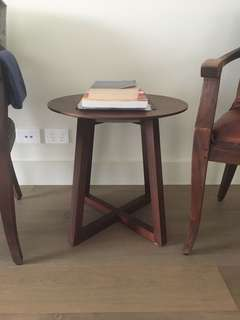 Designer French oak side tables (2)