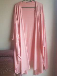 Pink long outer