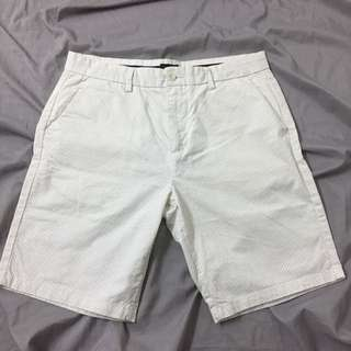 Max White Shorts with Polka Dots for Men