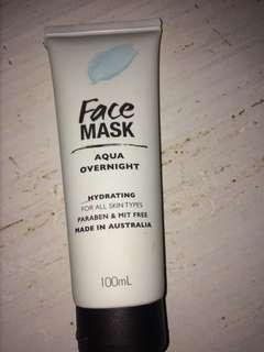 Aqua night time face mask