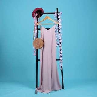 Side Boob Maxi Dress Plain