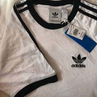 ADIDAS mini trefoil BLACK & WHITE Shirt