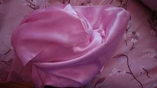 Pashmina silk baby pink