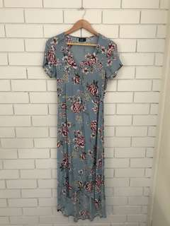 Dotti Floral Maxi Wrap Dress