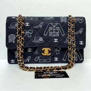 Chanel Vintage 經典元素印花CF鏈條袋